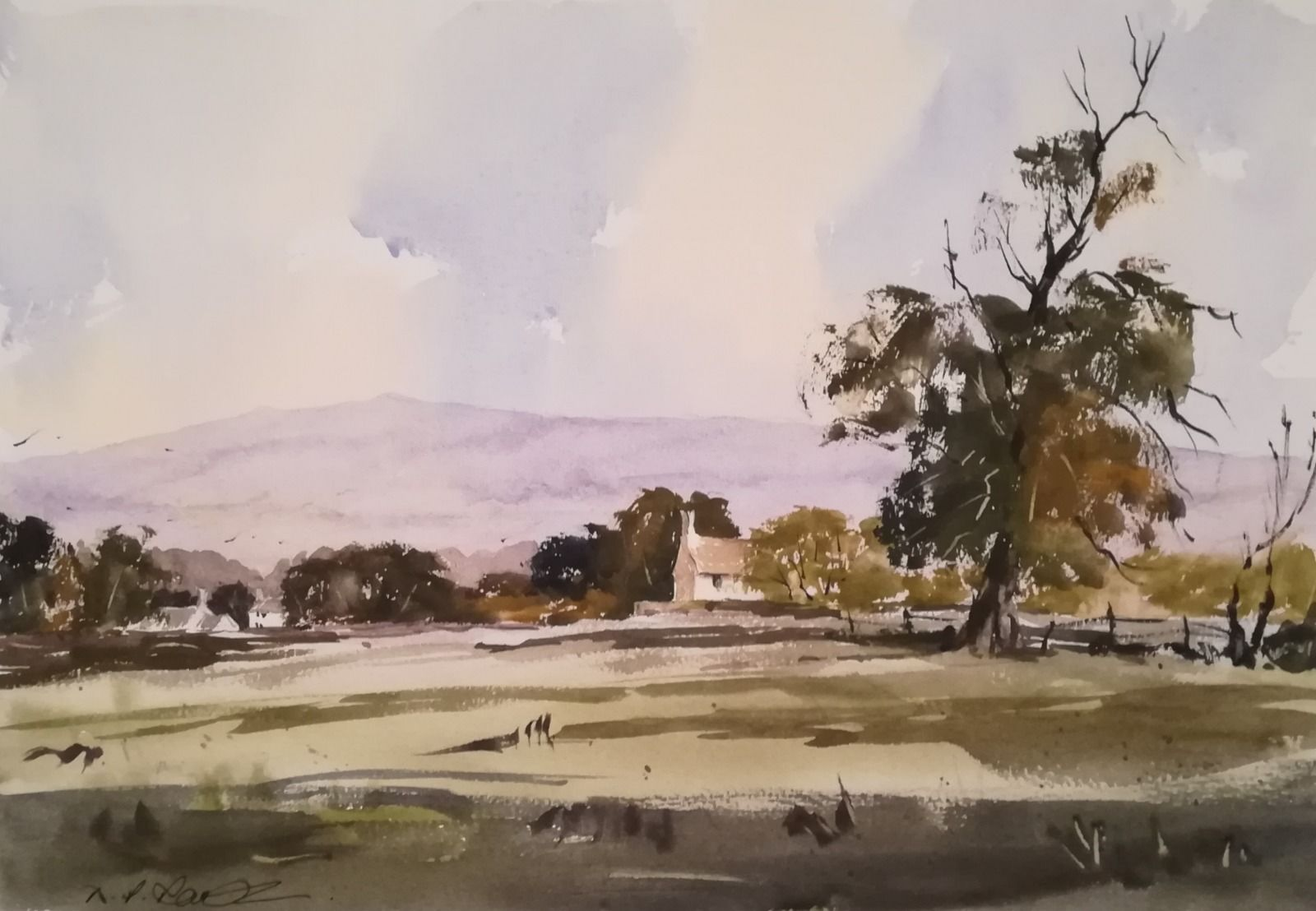 "Into the Valley ~ (currently unavailable) watercolour (15.5"" x 10.5"" approx) £250.00"