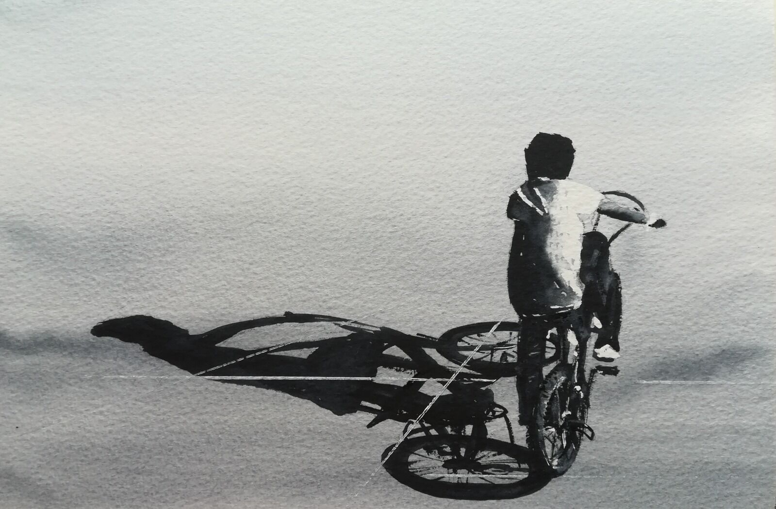 """The Grifter ~ SOLD Original watercolour (10 x 7"""" approx) unframed on Bockingford 140lb Rough £150.00"""