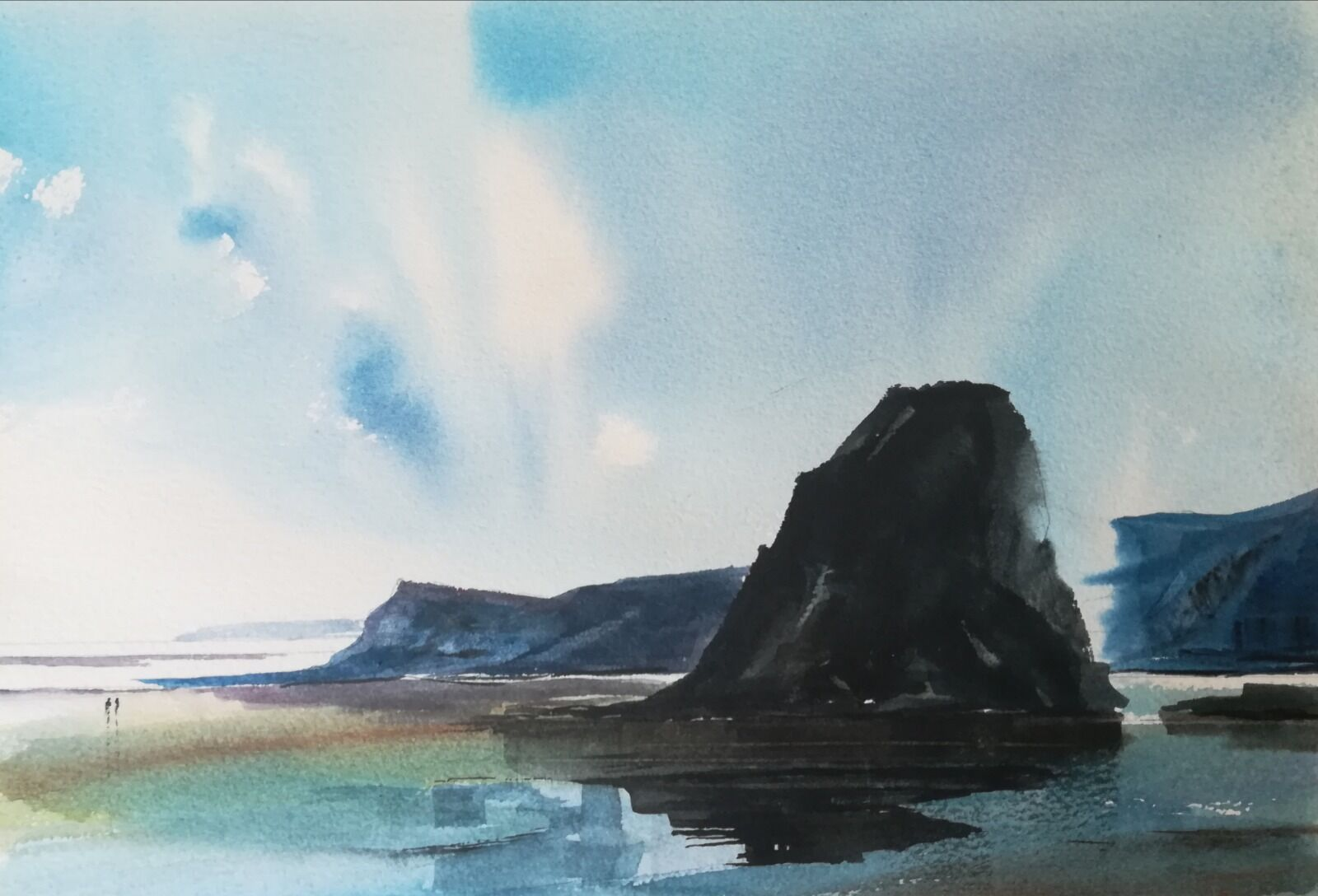 """Original watercolour ~ approx 11 x 7.5 """" 90lb NOT £TBC please ask (unmounted)"""