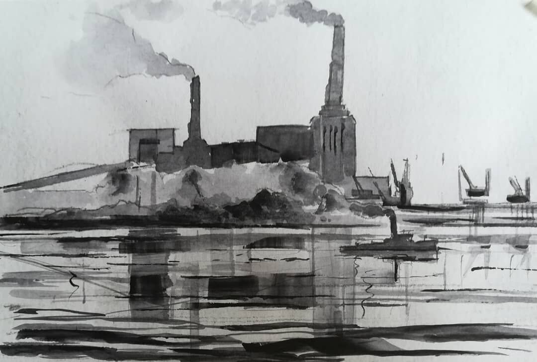 Battersea Power Station 3 ~ original watercolour. More details to follow