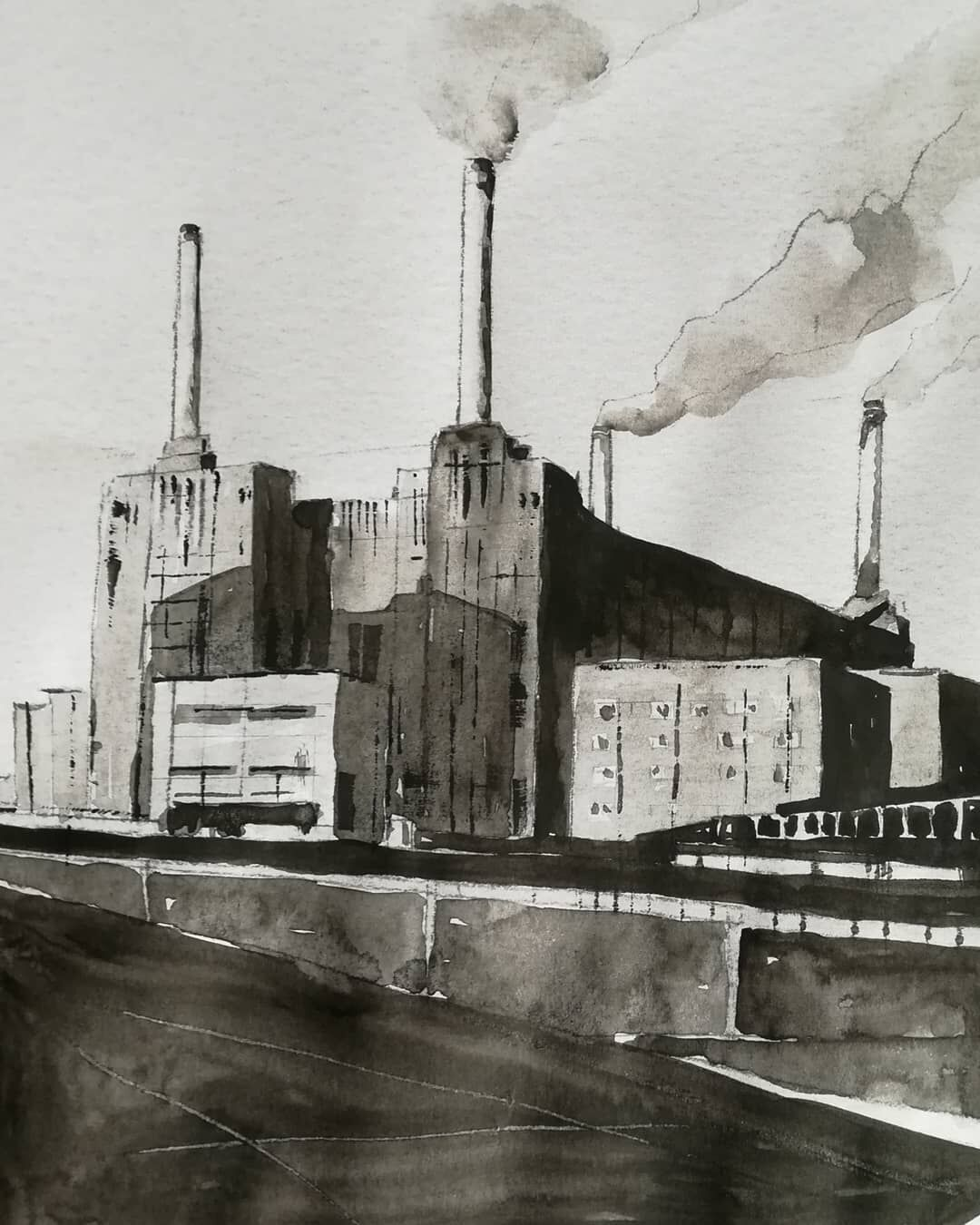 Battersea Power Station 2 ~ original watercolour. More details to follow