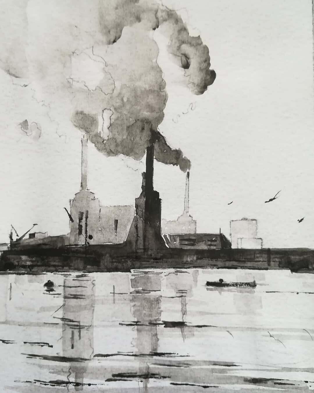 Battersea Power Station 4 ~ original watercolour. More details to follow