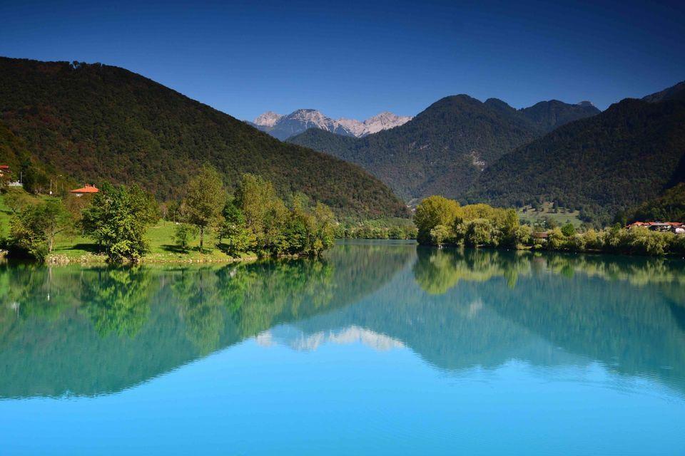 Lake at Soca valley