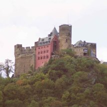 Castle on the Rhine River,Germany