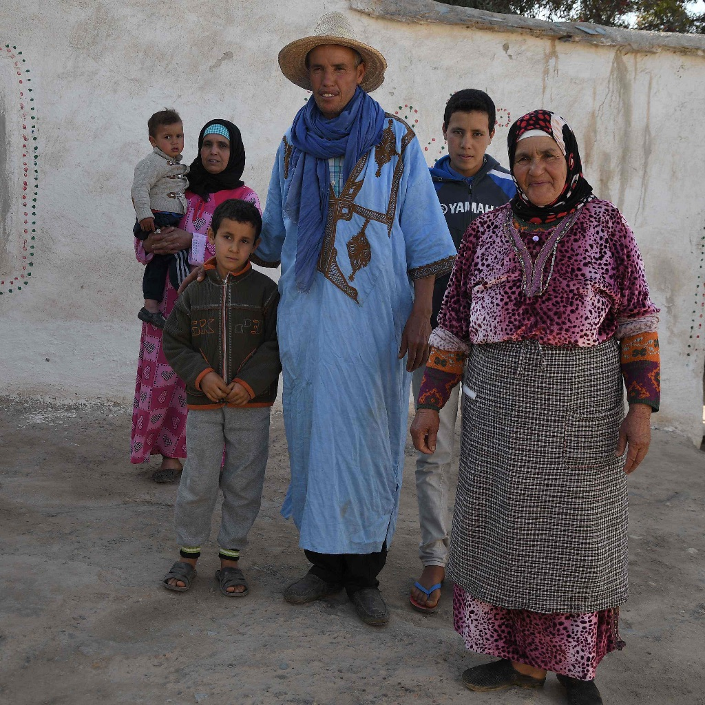 Family at village near Marrakesh,Morocco