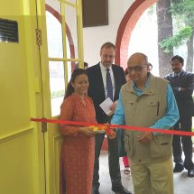 Inaugurating Smart Class Room at Doon School,Dehradun,October,2017