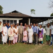 "With villagers for ""Highland"" project at Kaziranga,2018"