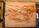 Muslin Sepia painting