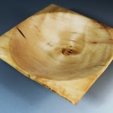 Small square yew dish