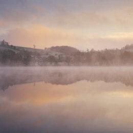 Misty Lake Reflection