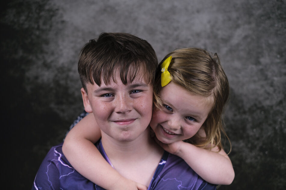 Brother and younger sister