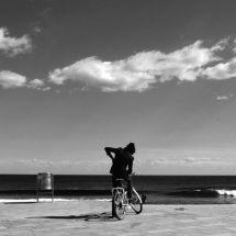 On bike