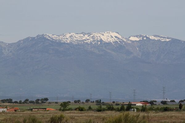 Sierra de Gredos Mountains, snowy peak of Almanzor, Extremadura