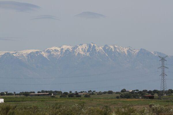 Sierra de Gredos Mountains, snowy peak of AlmanzorExtremadura