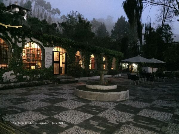 Early morning, San Jorge Eco Lodge Quito