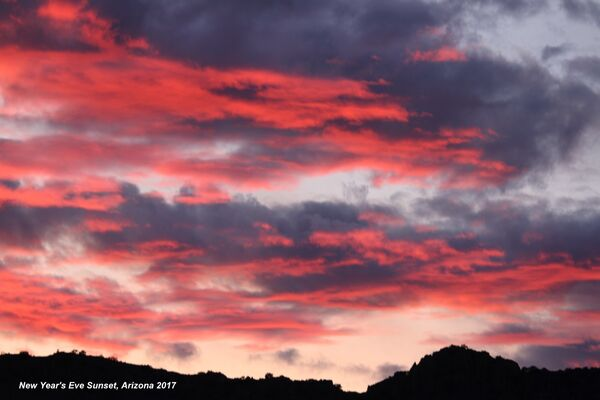 Sunset, New Year's Eve 2017, Arizona
