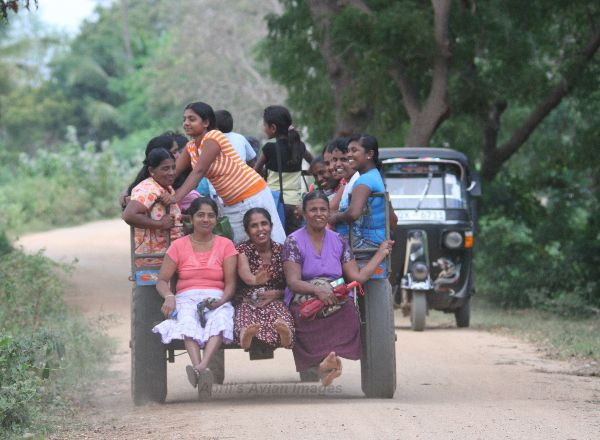This photo was taken at the Debarawawa Wetland, these happy Ladies must have been on the way home from work.  What a way to travel !!