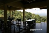 Nature Walk Resort, Kandy.  This was the restaurant at the hotel, it was wonderful to have dinner and breakfast looking out over the valley.