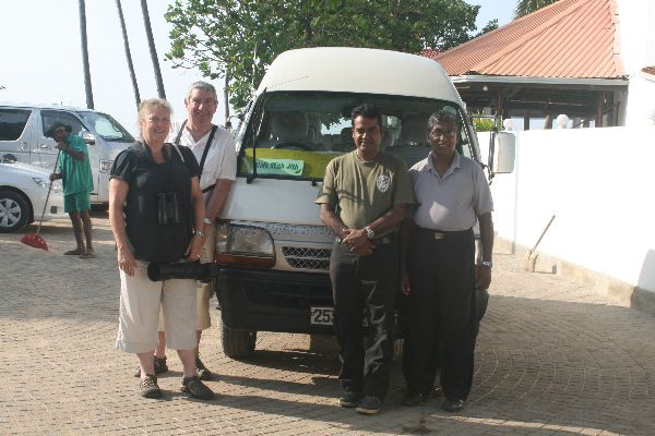 Our Tour Group.  Myself and Bill with Sandun our bird guide and Silva our driver.