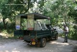 Our Transport in Yala National Park. Our day at Yala was a bird and mammal safari, this jeep collected us from our hotel at 5am, while it was still dark !! our driver was Sudu, we had a great day, a real experience.