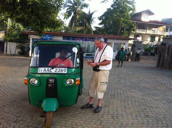 Tuk-Tuk Taxi.  Took a trip in one of these on our last day at the Beach Resort.  Great fun !!!