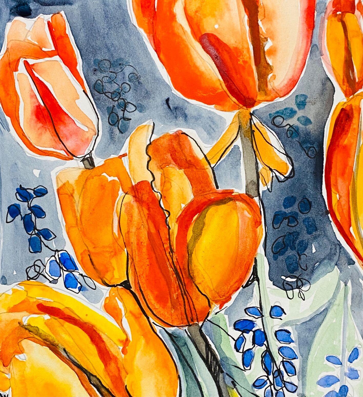 Red/yellow tulips