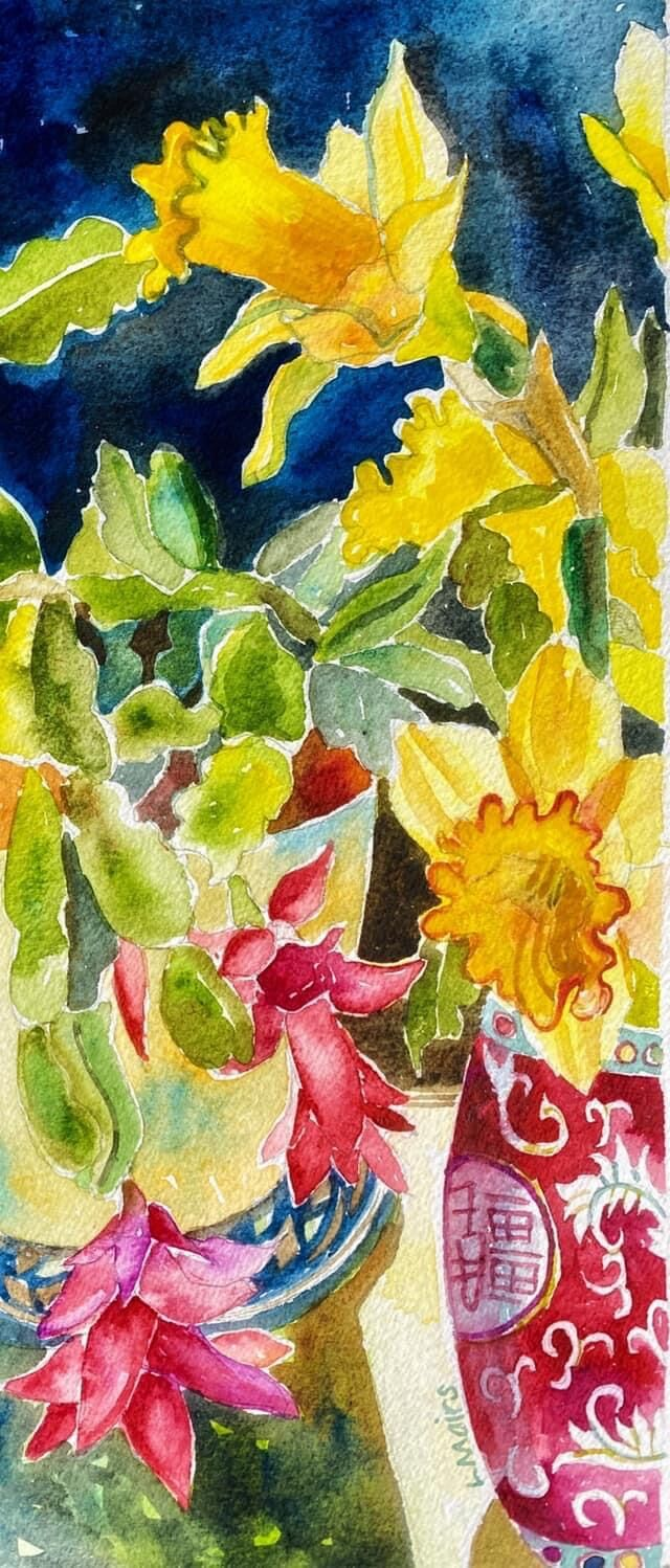 cactus and daffodils