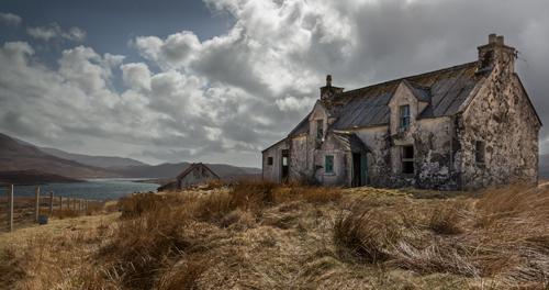 Derelict Cottage on Loch, Harris