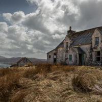 Derelict Cottage on Loch, Harris