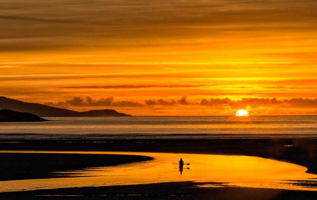 Luskentyre Canoe  Sunset