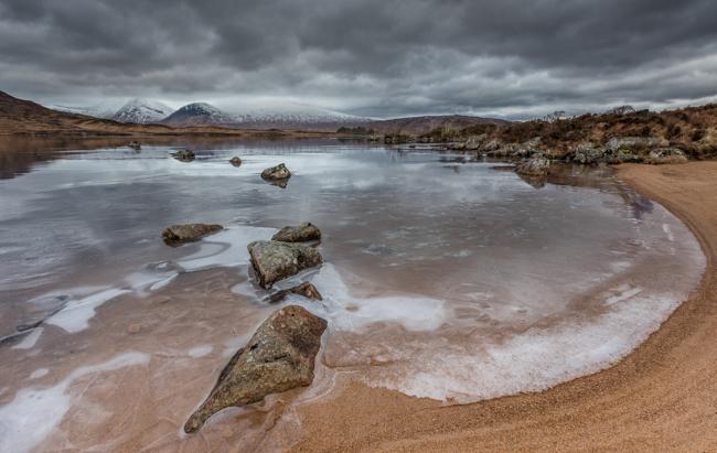 Rannoch Moor Ice and Stones