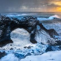 Sunrise and sea stacks-2-2