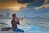 Trombone at Sunset