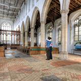 Interior of church at Blythburgh