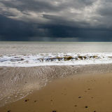 Brewing storm over Covehithe beach