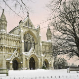 St Albans Cathedral at Christmas Time
