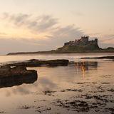 Bamburgh Castle before sunrise
