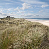 Bamburgh Castle from the dunes