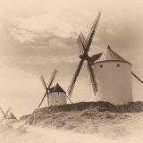 La Mancha Windmills in Sepia