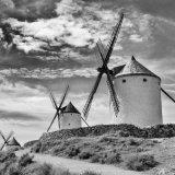 La Mancha Windmills in Black and White