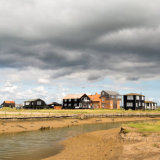 Walberswick Houses on the river Blyth