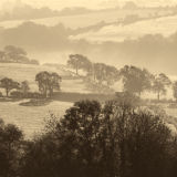 Misty Morning over the Somerset Levels 1