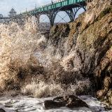 Crashing Waves, Clevedon Pier