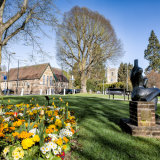 Church Green in the Spring Harpenden