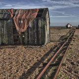 Fisherman's Hut and Rail Line