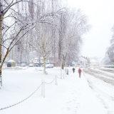 High Street Harpenden in the Winter