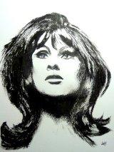 Jean Shrimpton (stick & ink)