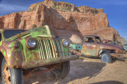 Desert wreck, New Mexico
