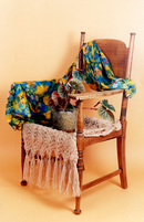 Antique chair & scarves