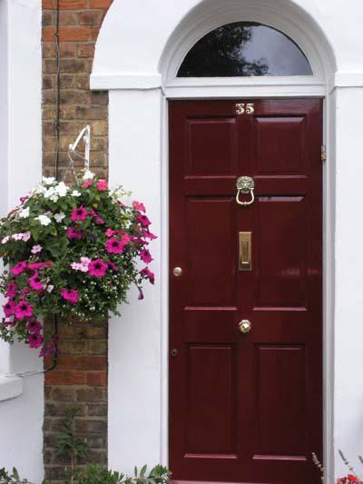 Burgundy Front Door Paint